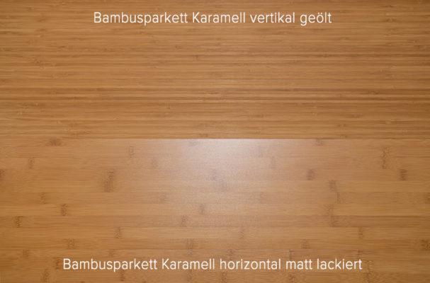 Bambusparkett geölt oder lackiert